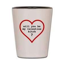 Valentine's day t-shirt - black text Shot Glass