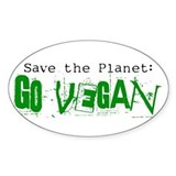 Go Vegan! Oval Decal