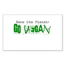Go Vegan! Rectangle Decal