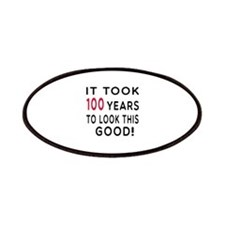 It Took 100 Birthday Designs Patches