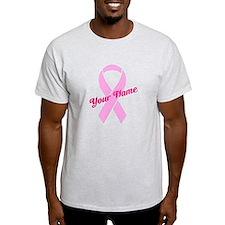 Custom Pink Ribbon T-Shirt
