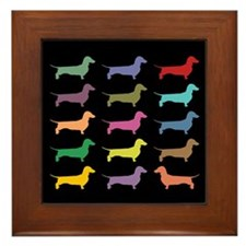 Dachshunds, Dachshunds, Dachs Framed Tile