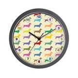 Dachshunds, Dachshunds, Dachs Wall Clock