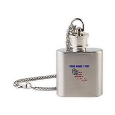 Custom American Flag Running Shoe Flask Necklace