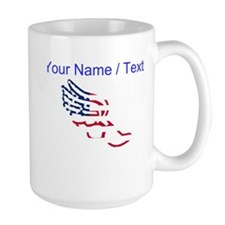 Custom American Flag Running Shoe Mugs