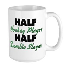 Half Hockey Player Half Zombie Slayer Mugs