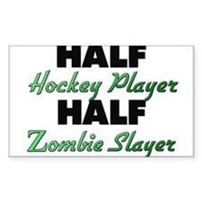 Half Hockey Player Half Zombie Slayer Decal