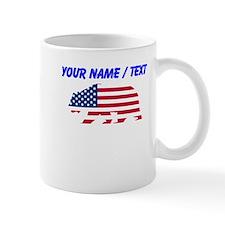 Custom American Flag California Bear Mugs