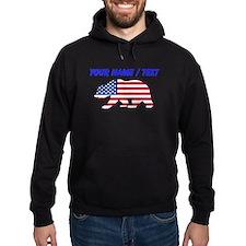 Custom American Flag California Bear Hoodie