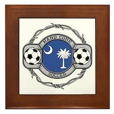 South Carolina Soccer Framed Tile