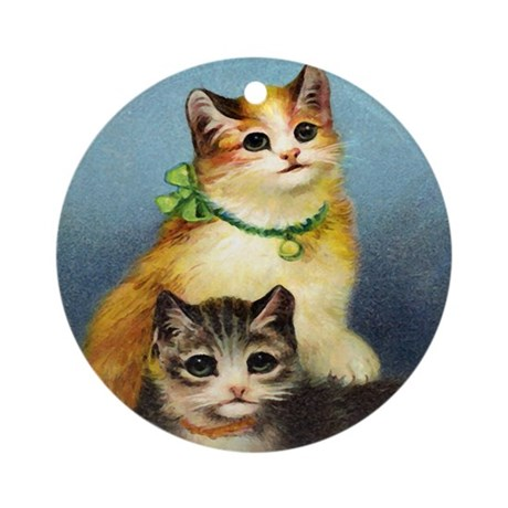 Cute Kittens Ornament (Round)