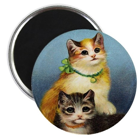 "Cute Kittens 2.25"" Magnet (100 pack)"