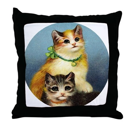 Cute Kittens Throw Pillow