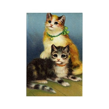 Cute Kittens Rectangle Magnet (100 pack)
