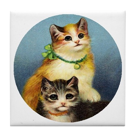 Cute Kittens Tile Coaster
