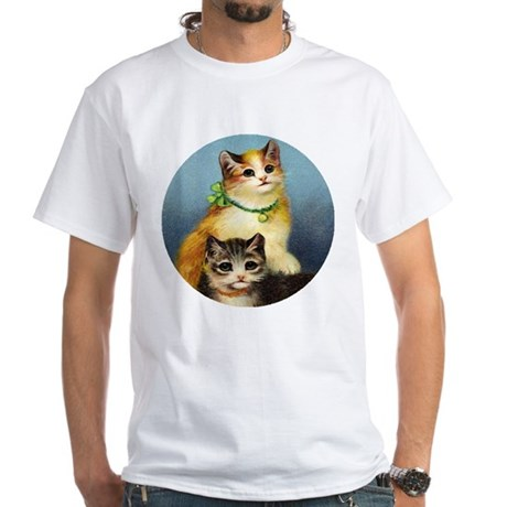 Cute Kittens White T-Shirt