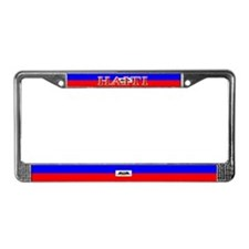 Haiti Blank Flag License Plate Frame
