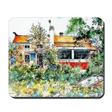 The Cottage, Carl Larsson painting Mousepad
