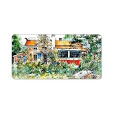The Cottage, Carl Larsson p Aluminum License Plate