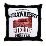 Strawberry Fields Beatle Throw Pillow