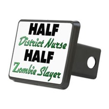 Half District Nurse Half Zombie Slayer Hitch Cover