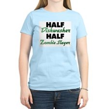 Half Dishwasher Half Zombie Slayer T-Shirt