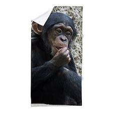 Chimpanzee002 Beach Towel