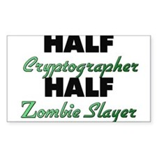 Half Cryptographer Half Zombie Slayer Decal