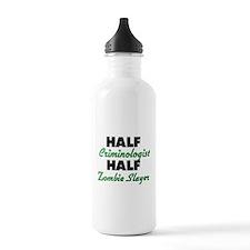 Half Criminologist Half Zombie Slayer Water Bottle