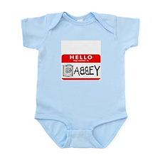 Hello, my name is Abbey Infant Bodysuit