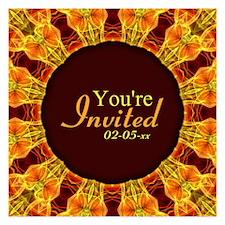 Flower Bouquet Mandala Invitations