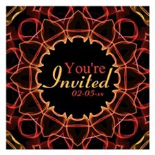 Red and Yellow Magic Invitations