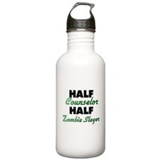Half Counselor Half Zombie Slayer Water Bottle