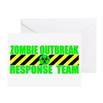 Zombie Outbreak Response Team Greeting Cards (Pack