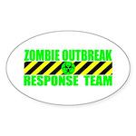 Zombie Outbreak Response Team Oval Sticker