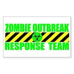 Zombie Outbreak Response Team Sticker (Rectangular