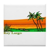 Key Largo, Florida Tile Coaster