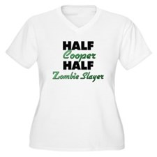 Half Cooper Half Zombie Slayer Plus Size T-Shirt