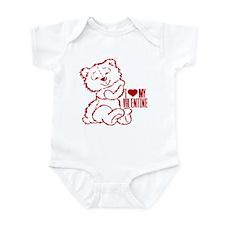 I Heart My Valentine! Red Teddy Bear Infant Bodysu