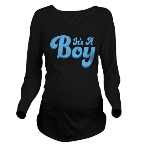 Its A Boy Pregnancy Announcement Long Sleeve Mater