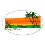 Key West, Florida Oval Decal
