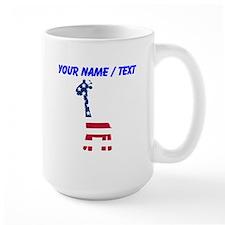 Custom American Flag Giraffe Mugs