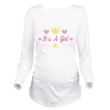 Baby Girl Announcement Long Sleeve Maternity T-Shi