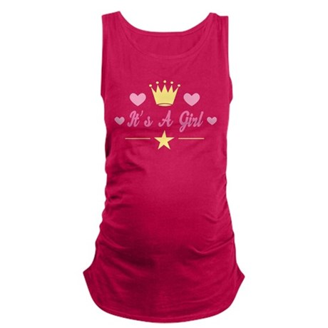 Baby Girl Announcement Maternity Tank Top