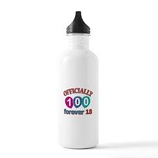 Officially 100 forever 18 Water Bottle
