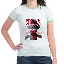 Love is Contagious Sock Monkey Valentine T