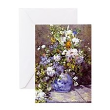 Renoir - Blue Vase Greeting Card