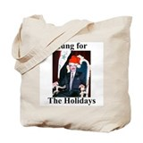 Saddam Hussein Hung for the Holidays Tote Bag