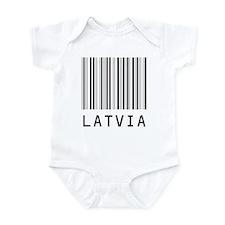 LATVIA Barcode Onesie