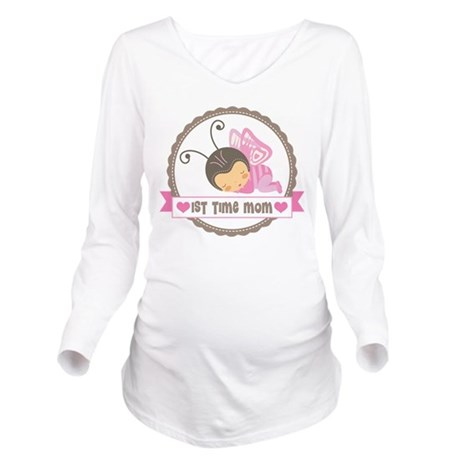 First Time Mom Gift Long Sleeve Maternity T-Shirt